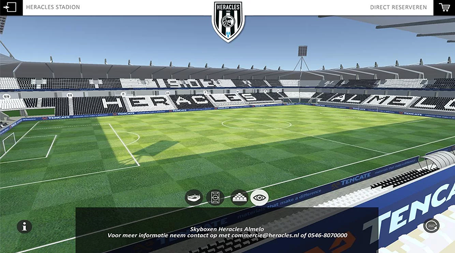 Mobile App: Heracles Stadium