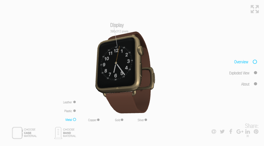 Web App: Smartwatch